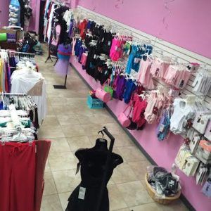 High angle snapshot of the interior of Ultimate Dancewear & Accessories