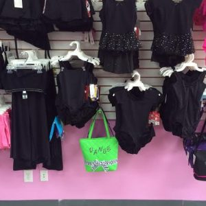 Black toddler and children dance leotards, dance shorts, dance skirts