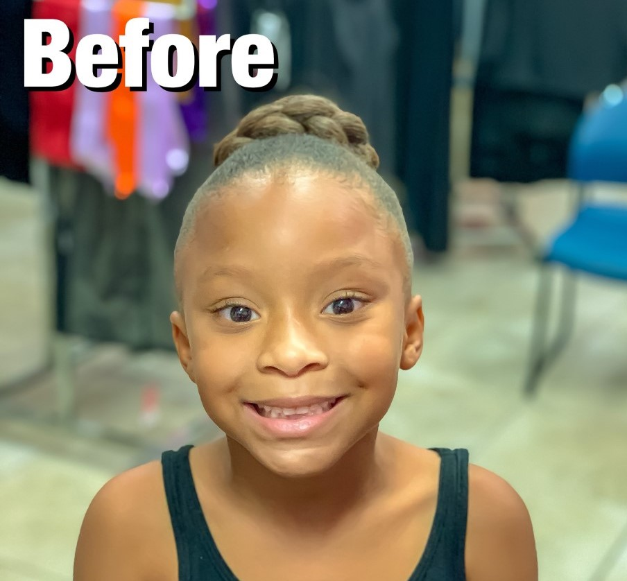 Young African American girl smiling for a photo